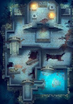 Fantasy Map, High Fantasy, Aztec Temple, Rpg Map, Pixel Art Games, Dungeon Maps, Map Design, City Maps, Dungeons And Dragons