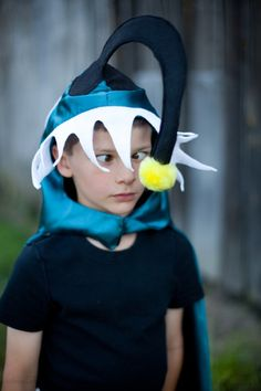Deep Sea Angler Fish - Children Cape Halloween Costume - Handmade dress up fish. $49.00, via Etsy.