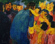 Christ and the Children by Emil Nolde