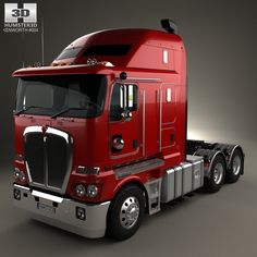 Kenworth K200 Tractor Truck 2010 3d model from humster3d.com. Price: $75