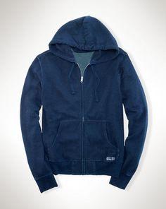 Indigo-Dyed Full-Zip Hoodie - Polo Ralph Lauren Sweatshirts - RalphLauren.com