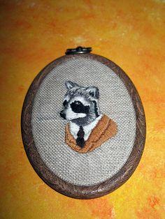 Ryan Berkley inspired raccoon.