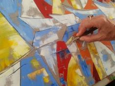 Tuto : comment peindre des bateaux au couteau par Patricia Soulier - l'Atelier Géant