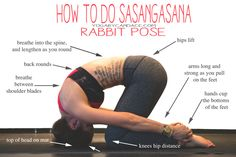Pin now, practice later! Rabbit pose is great for upper back pain!
