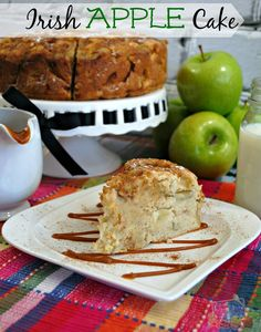 Looking for a yummy recipe idea to use apples? Well after you make this Irish Apple Cake recipe, you will be wanting to make it all the time! Apple Cake Recipes, Apple Desserts, Just Desserts, Baking Recipes, Dessert Recipes, Apple Cakes, Cake Bars, Pie Cake, Italian Love Cake
