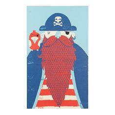 Old Captain Redbeard Wall Art  | The Land of Nod