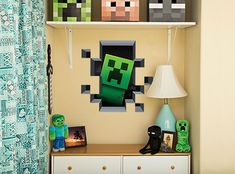 [ Minecraft Wall Art Creates Portal Mine More Gold Themed Vinyl Decals Stickers Game Room Decor Free ] - Best Free Home Design Idea & Inspiration Memes Minecraft, Craft Minecraft, Minecraft Decoration, Minecraft Bedroom Decor, Minecraft Room, Minecraft Party, Minecraft Stuff, Minecraft Furniture, Minecraft Skins