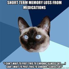 Short term memory loss..