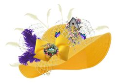 """""""Sunshire Easter Bonnet . . . because you can't make just one!"""" by lois-boyce-flack ❤ liked on Polyvore featuring art"""