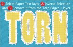 Torn Paper Text Effect - Photoshop tutorial | PSDDude