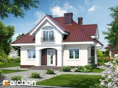 Dom w robiniach Home Paint Colour, My Ideal Home, Dream House Exterior, Design Case, Home Fashion, Traditional House, House Painting, House Plans, Villa