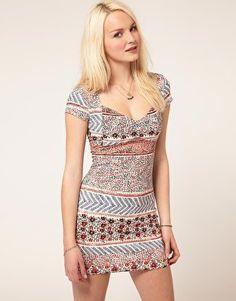 Minkpink | Minkpink 'Juliet' Sweetheart Neck Dress at ASOS