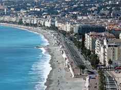 The gorgeous coastline in Nice France. #travel #france