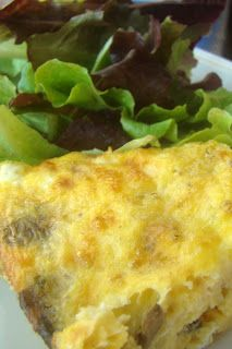 Nourished and Nurtured: Mushroom and Cheddar Crustless Quiche (GAPS : grain-free : primal)