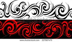 Find Seamless Tribal Tattoo Pattern Line stock images in HD and millions of other royalty-free stock photos, illustrations and vectors in the Shutterstock collection. Thousands of new, high-quality pictures added every day. Band Tattoo Designs, Tribal Tattoo Designs, Tribal Tattoos, Geometric Tattoos, Tatoos, Sheep Skull, Maori Designs, Photo Libre, Maori Art