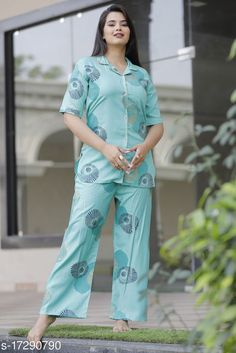 Nightsuits Women Rayon Nightsuit Top Fabric: Rayon Bottom Fabric: Rayon Top Type: Regular Top Bottom Type: Patiala Pants Sleeve Length: Short Sleeves Pattern: Printed Multipack: 1 Sizes: S (Top Bust Size: 36 in, Top Length Size: 29 in, Bottom Waist Size: 27 in, Bottom Hip Size: 40 in, Bottom Length Size: 40 in)  XL (Top Bust Size: 42 in, Top Length Size: 29 in, Bottom Waist Size: 29 in, Bottom Hip Size: 44 in, Bottom Length Size: 40 in)  L (Top Bust Size: 40 in, Top Length Size: 29 in, Bottom Waist Size: 28 in, Bottom Hip Size: 42 in, Bottom Length Size: 40 in)  M (Top Bust Size: 38 in, Top Length Size: 29 in, Bottom Waist Size: 27 in, Bottom Hip Size: 40 in, Bottom Length Size: 40 in)  XXL (Top Bust Size: 44 in, Top Length Size: 29 in, Bottom Waist Size: 30 in, Bottom Hip Size: 46 in, Bottom Length Size: 40 in)  XXXL (Top Bust Size: 46 in, Top Length Size: 29 in, Bottom Waist Size: 31 in, Bottom Hip Size: 48 in, Bottom Length Size: 40 in)  Country of Origin: India Sizes Available: S, M, L, XL, XXL, XXXL   Catalog Rating: ★3.9 (603)  Catalog Name: Women's Rayon Nightsuits CatalogID_3478800 C76-SC1045 Code: 784-17290790-6621