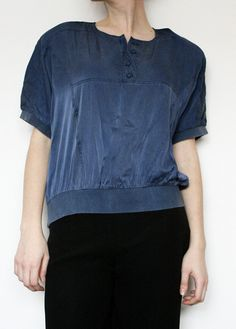 bluza vintage Denim Button Up, Button Up Shirts, Clothes, Vintage, Tops, Fashion, Outfits, Moda, Clothing