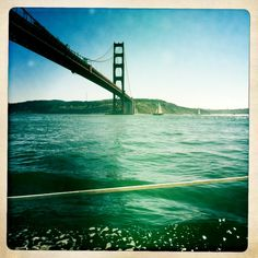 Taken while sailing under the Golden Gate Bridge in San Francisco, CA. Well. I wasn't actually the one doing the sailing.