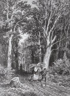 The road in forest, 1869 Ivan Shishkin