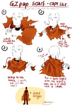 How GZ papyrus wear his scarf by GZ-studio.deviantart.com on @DeviantArt