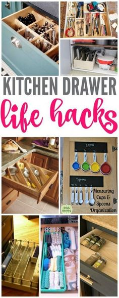 12 Genius Ways to Organize Your Kitchen Drawers Kitchen Drawer Life Hacks! How to Organize and Clean out Your Kitchen Drawers! Kitchen Cupboard Organization, Cupboard Design, Organize Kitchen Cupboards, Kitchen Storage, Organized Kitchen, Kitchen Cabinets, Kitchen Organizers, Kitchen Refrigerator, Cupboard Storage