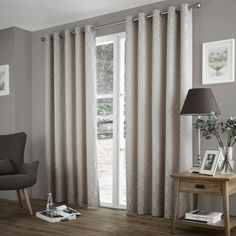 Harlow Readymade Eyelet Lined Curtains - Taupe