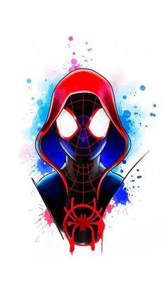 marvel spiderman Spider man Miles Morales into the spider verse marvel ultimate Spider-Man Spiderman Kunst, Spiderman Drawing, Black Spiderman, Spiderman Spider, Amazing Spiderman, Marvel Art, Marvel Heroes, Marvel Avengers, Spiderman Marvel