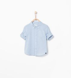 ZARA - COLLECTION AW15 - Shirt with roll-up sleeves