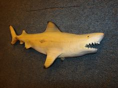 Chainsaw Carving Lemon Shark Carved Wall Mount by libertychainsaw, $125.00