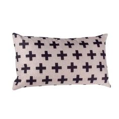 Crosses Theme Natural & Black Baby Childrens Cushion Cover 30cm x 50cm