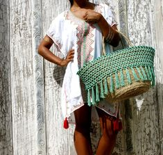 SALE Straw beach bag/ Beach bag crochet/Boho beach