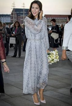 Crown Princess Mary attended a reception at Copenhagen Opera House