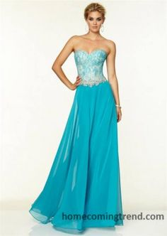 Long Turquoise Lace Bead Mori Lee 97061 Corset Prom Dress