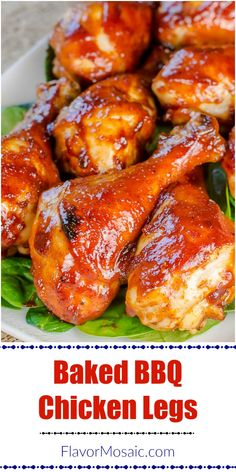 Baked BBQ Chicken Legs This easy Oven Baked BBQ Chicken makes a sweet, tangy, smoky, sticky barbecue chicken that is perfect for a summer party or dinner, or when it is too hot or cold to grill outside. Chicken Leg Recipes Oven, Baked Bbq Chicken Legs, Easy Bbq Chicken, Baked Chicken Drumsticks, Oven Barbecue Chicken, Chicken Sausage, Keto Chicken, Shredded Chicken, Dinner Ideas