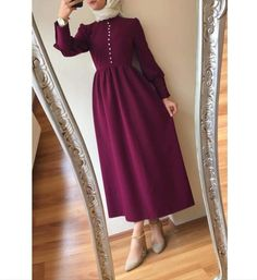 Outfit: 123456 or . Modest Fashion Hijab, Modern Hijab Fashion, Modesty Fashion, Islamic Fashion, Muslim Fashion, Fashion Dresses, Hijab Evening Dress, Hijab Dress Party, Hijab Style Dress