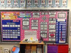Math Focus Wall Live, Laugh, Teach First Grade: My First Grade Classroom Tour (13/14 School Year)