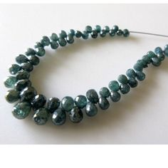 BLUE DIAMOND BRIOLETTE BEADS first time on ETSY by Gems Diamonds By SHIKHA.