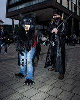 photos from the Thought Bubble convention in Leeds 2014, me in all my lycanthropic glory and my boyfriend behind me cosplaying as Van Helsing (oh the irony lol). XD  photography (c) Maria Newton