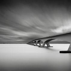 Zeeland Bridge - longest bridge in the Netherlands. Childhood memories .