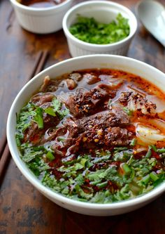 Lanzhou Beef Noodle Soup, by thewoksoflife.com  need to find a way to make the noodles GF but with CHEW ;)