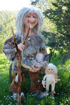 Zaeb, needle felted Forest Spirit, made by Gandalf's Beard