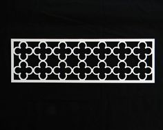 "Potential overlay for footboard Quatrefoil 7.25"" x 23"" $21"