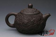 Handmade Yixing Zisha Unglazed Clay Teapot China Pottery Tea Pot.