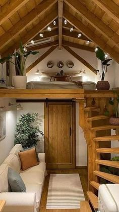 Tiny House Loft, Tiny House Living, Tiny House Design, Cozy House, Small Cabin Designs, Design Homes, Sweet Home, Small Loft, Cabin In The Woods