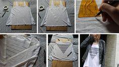 ::: OutsaPop Trashion ::: DIY fashion by Outi Pyy :::: Geometric Tank