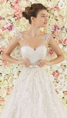 Wedding Dresses by Aire Barcelona 2017 Bridal Collection - Part 1 - Belle The Magazine Short Wedding Gowns, Fairy Wedding Dress, Wedding Dresses 2018, Stunning Wedding Dresses, Beautiful Gowns, Bridal Dresses, Gown Wedding, Mermaid Wedding, Lace Wedding