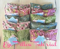 Eye Pillow Tutorial by Button Bird Designs