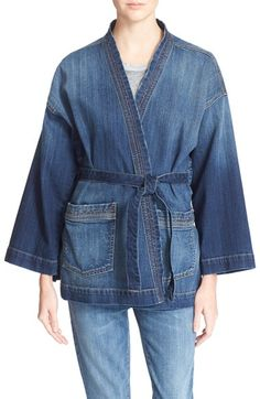 Current/Elliott 'The Kimono' Denim Jacket available at #Nordstrom