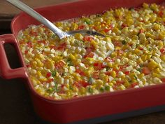 Fresh Corn Casserole with Red Bell Peppers and Jalapenos Recipe : Ree Drummond : Food Network
