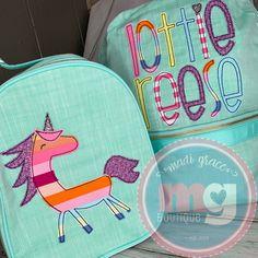 Applique Designs, Embroidery Applique, Lunch Box, Monogram, Bento Box, Monograms